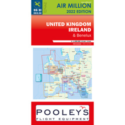 England und Irland Air Million Karte VFR