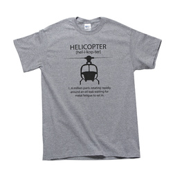 Helicopter T-Shirt L