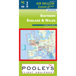 Südengland und Wales Air Million ZOOM Karte VFR