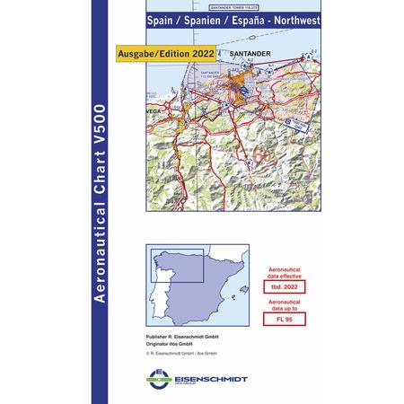 Vfr Karte Spanien Nordwest Icao 1 500000 Jetzt Kaufen 19 60 Chf