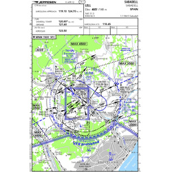 VFR Approach Chart single Airport