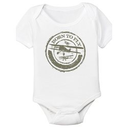 Baby Strampler Pilot Born to fly 6 Monate
