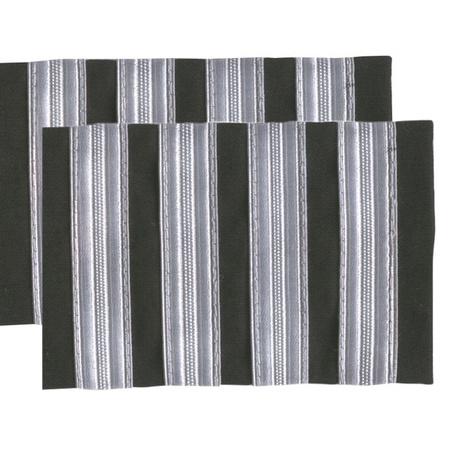 a105a52c2c5 Captain Epaulets - 4 Bar - Black with Silver Stripes
