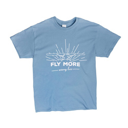 Fly More, Worry Less T-Shirt L