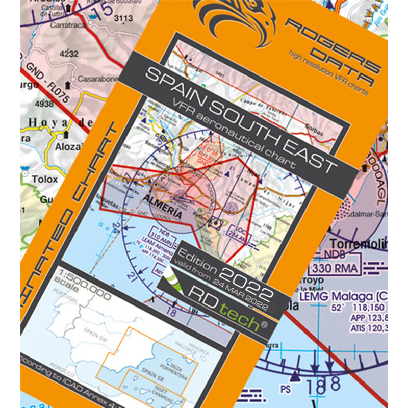 Map South Of Spain.Spain Vfr South East Rogers Data Aeronautical Chart