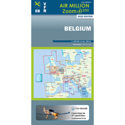 Belgien Air Million ZOOM 1:250.000 Karte VFR