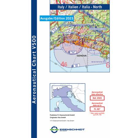 Italien Karte Lampedusa.Italien Nord Visual 500 Karte Vfr