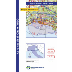 Italy North Visual 500 Chart VFR