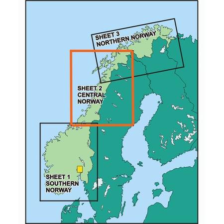 Karte Norwegen.Norwegen Mitte Icao Karte Vfr