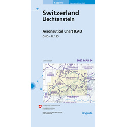 Switerland ICAO Chart - Paper, folded
