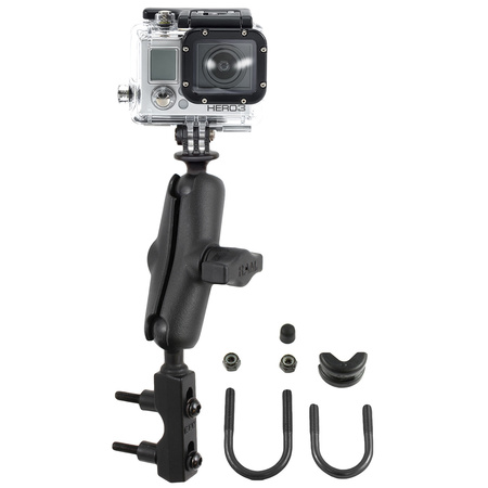 RAM Combination Brake/Clutch Reservoir U-Bolt Mount with Custom GoPro Hero Adapter