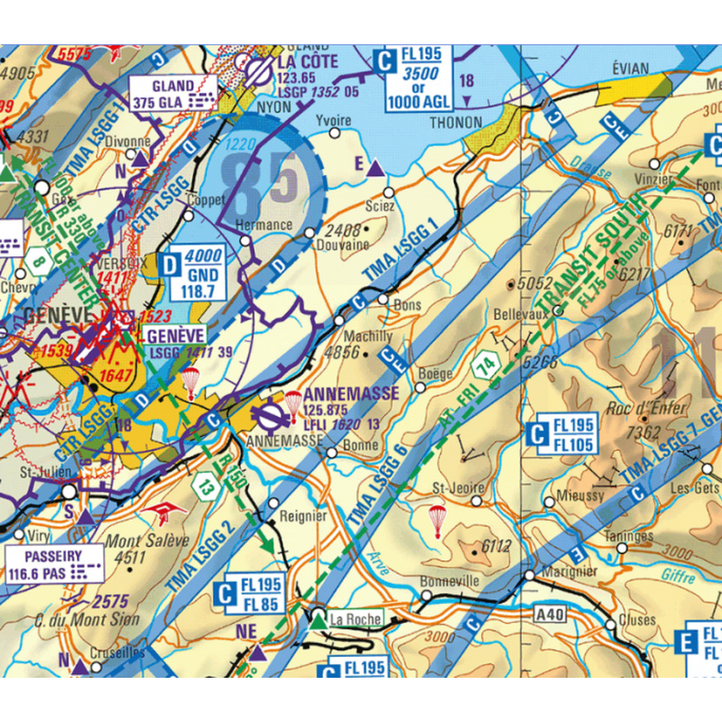icao karte Flight Planner / Sky Map   ICAO Karte   Schweiz, 44.00 CHF icao karte