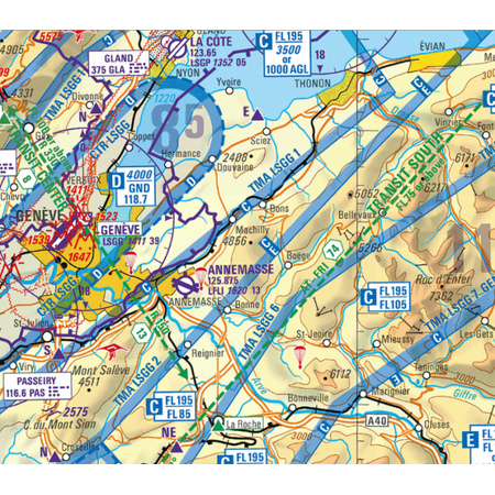 Flight Planner / Sky-Map - Trip-Kit Schweiz (ICAO-Karten u. AIP)