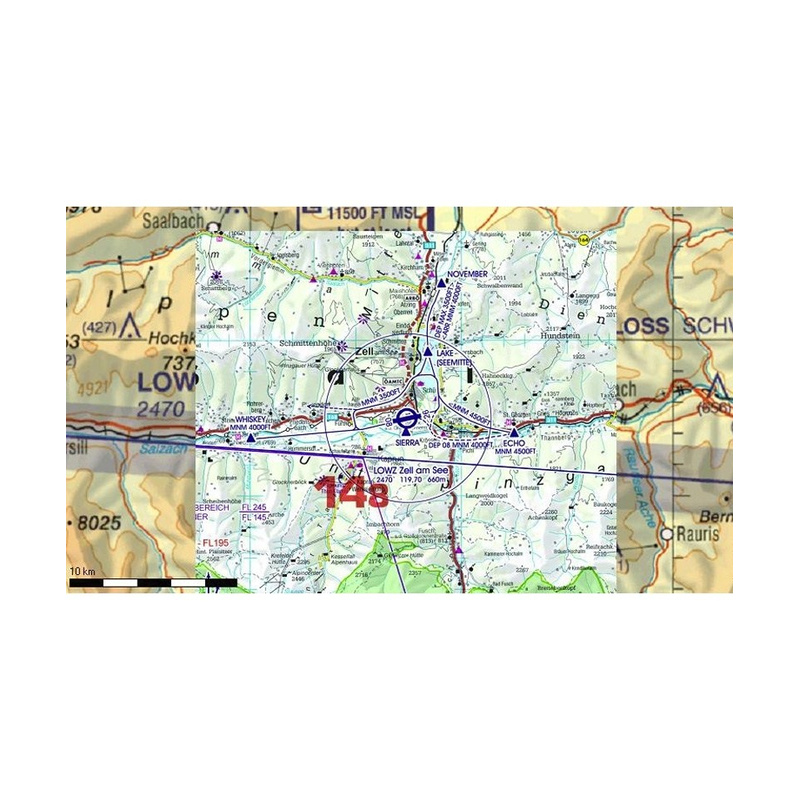 Flight Planner / Sky-Map - Trip-Kit Germany, Austria, Switzerland (ICAO  Charts and AIP)