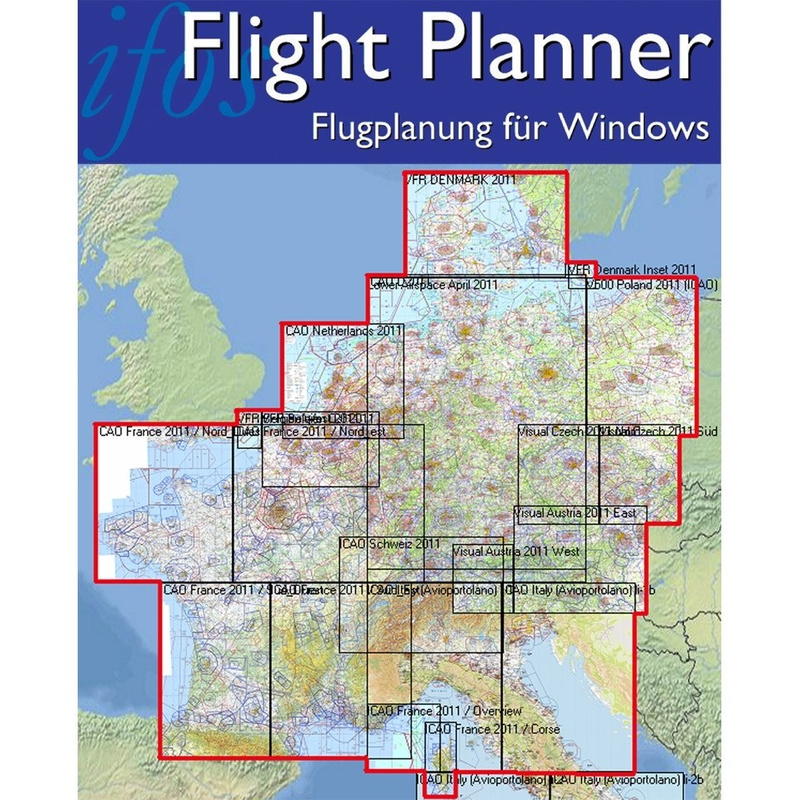 Flight Planner SkyMap Chart Set Germany And Neighbouring - Germany map neighbouring countries