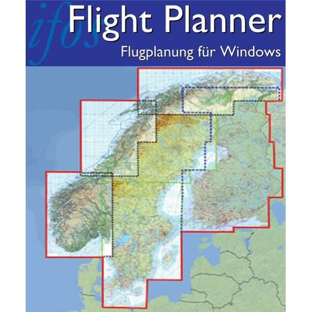 Flight Planner / Sky-Map - Chart Set Scandinavia (Finland, Norway, Sweden)