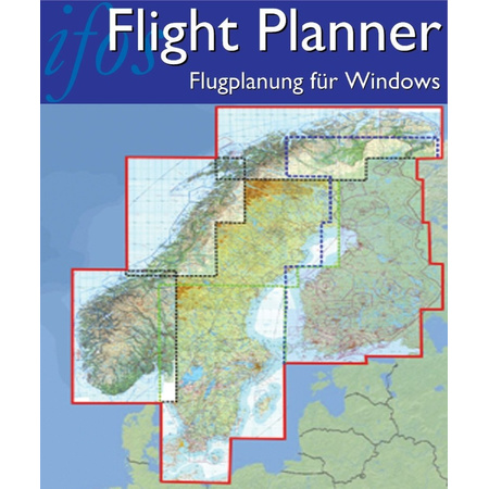 Karte Skandinavien.Flight Planner Sky Map Kartenpaket Skandinavien Finnland Norwegen Schweden