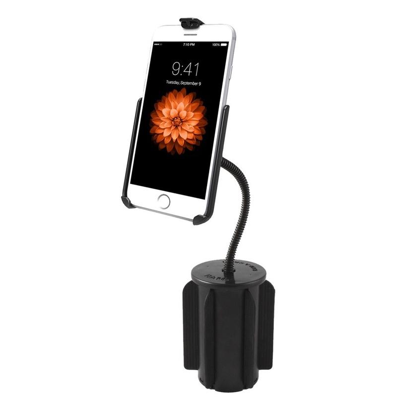 iphone 6 halterung f r getr nkehalter flex arm 46 25. Black Bedroom Furniture Sets. Home Design Ideas
