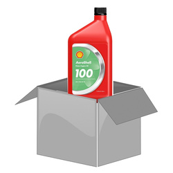 AeroShell Oil 100 - Box (1 AQ Bottle)