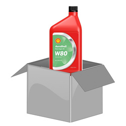 AeroShell Oil W80 - Box (1 AQ Bottles)