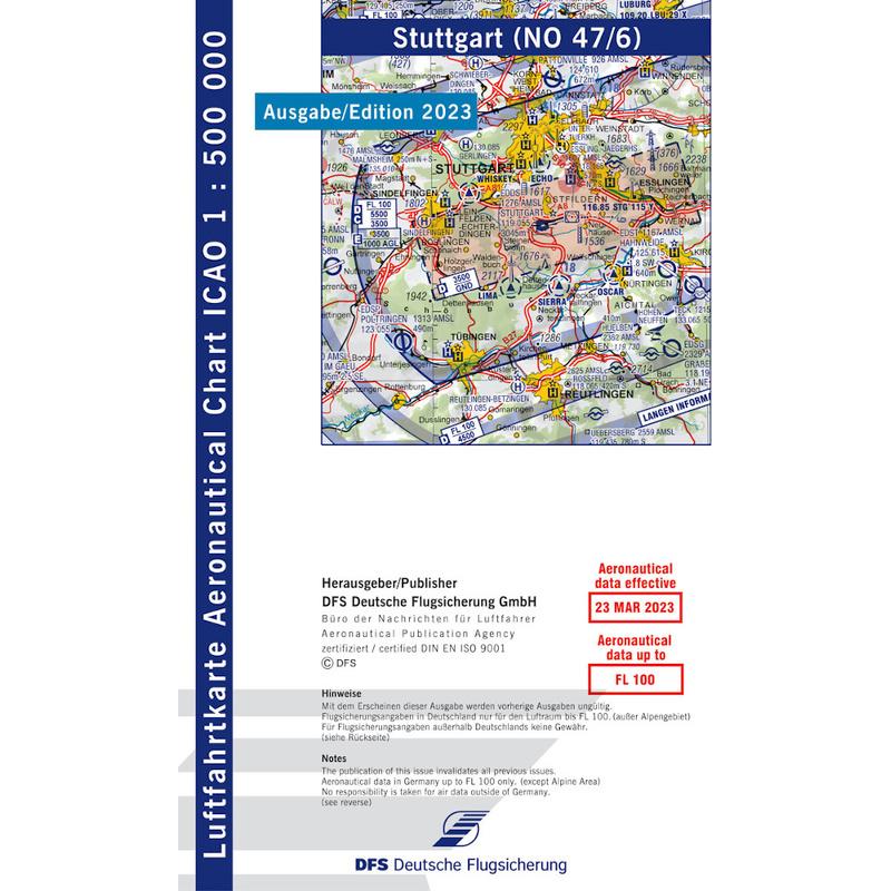 Deutschland Stuttgart Vfr Karte Icao 1 500000 Kaufen 12 80 Chf